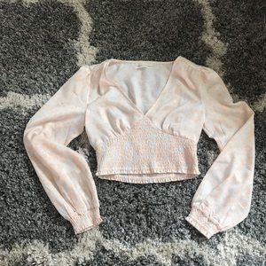 Urban Outfitters Cropped Longsleeve Top